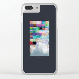 GlitchedClouds Clear iPhone Case