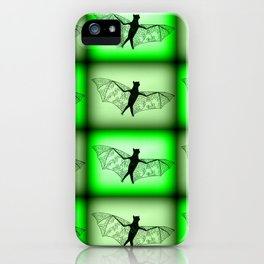 bats- in green iPhone Case