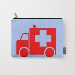 ambulance car illustration Carry-All Pouch