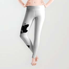 Dymaxion World Map (Fuller Projection Map) - Minimalist Black on White Leggings