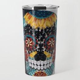 Colorful Sugar Skull Travel Mug