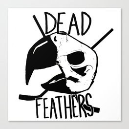 DEAD FEATHERS CREST Canvas Print