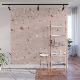 Blush Pink + Rose Gold Terrazzo Wall Mural