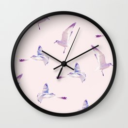 Pattern Birds Wall Clock