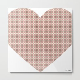 I love you this much... (light purple) Metal Print