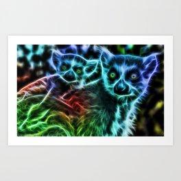 Electric Wonders Art Print