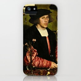 Hans Holbein  - Portrait of Georg Giese iPhone Case