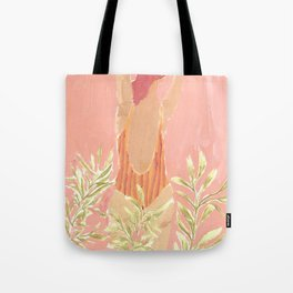 Girl and the leafs Tote Bag