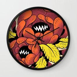 Grim Blossom Wall Clock