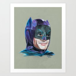 Adam West Caped Crusader Art Print