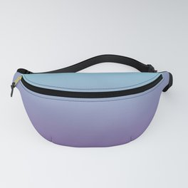 Pantone Chive Blossom Purple 18-3634 and Limpet Shell Blue 13-4810 Ombre Gradient Blend Fanny Pack