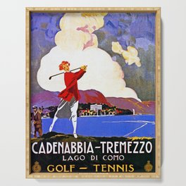 Cadenabbia Lake Como Golf And Tennis Serving Tray