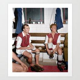 Arsenal players having a smoke Art Print
