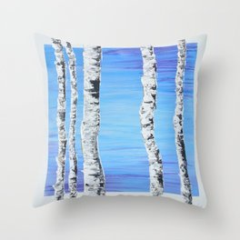 Forest Sentries Throw Pillow