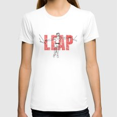 LEAP Womens Fitted Tee White LARGE