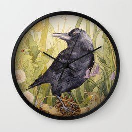 Canuck the Crow Wall Clock