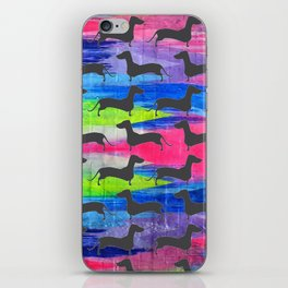 Tie Dyed Dachshunds iPhone Skin