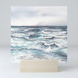Ocean Watercolor Mini Art Print