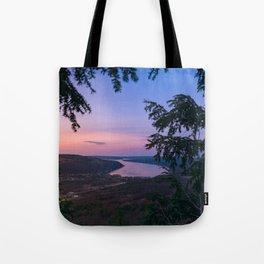 Sunset over Keuka Tote Bag