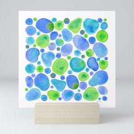 Sea Glass Watercolor Pattern / Coastal Decor / Tropical Pattern Mini Art Print