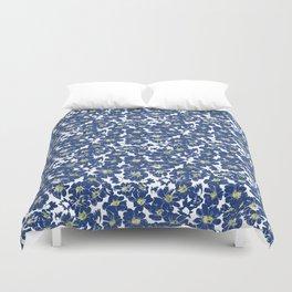 Blue Explosion Flower Duvet Cover