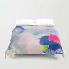 abstract joyful and wild meadow_001 Duvet Cover