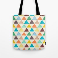 portland Tote Bags featuring Portland triangles by Sharon Turner