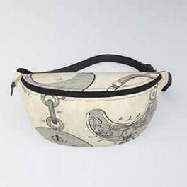 US Patent for Handcuffs - Circa 1880 Fanny Pack