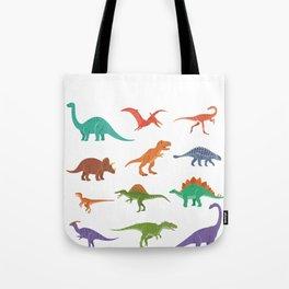 Dinosaur identificacion design Gift Types of dinosaurs graphic Tote Bag