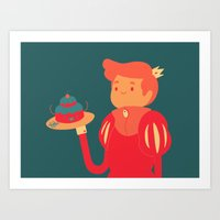 baking Art Prints featuring Baking by nico_lle