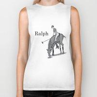 wreck it ralph Biker Tanks featuring Ralph by David Michael Schmidt