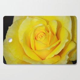 Beautiful single yellow rose Cutting Board