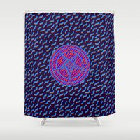 baphomet Shower Curtains featuring BAPHOMET II by DIVIDUS