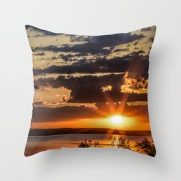 Another Fish Hook Lake sunrise Throw Pillow
