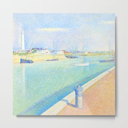 """Georges Seurat """"The Channel of Gravelines, Petit Fort Philippe"""" Metal Print"""