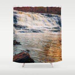 Golden Shacktown Falls Shower Curtain