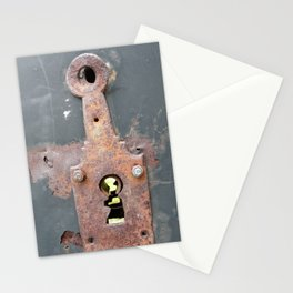 Rusty gate lock Stationery Cards