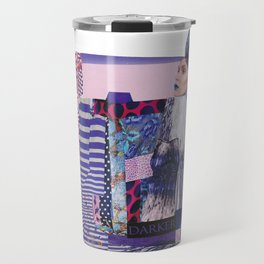 purple modern collage with pink and red Travel Mug