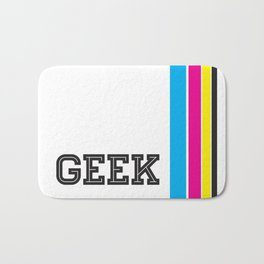 Design Geek (CMYK) Bath Mat