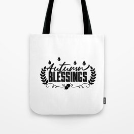 Autumn Blessings Thanksgiving Fall Tote Bag