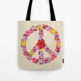 Peace Flower Sign Tote Bag
