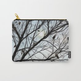 Moon beyond the trees Carry-All Pouch