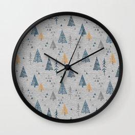 Cute forest pattern Wall Clock