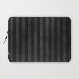 Black & Gray Velvet Stripe Pattern Laptop Sleeve