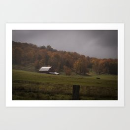 Fall Barn Scene Art Print