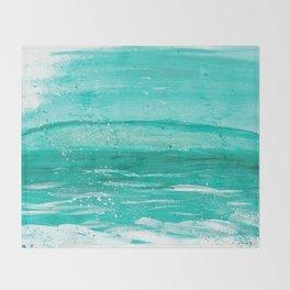 Bleu Wave Rising Throw Blanket