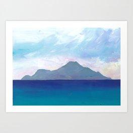 A Caribbean Volcanic Island Art Print