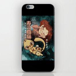 Sushi Chef Neko - Snow Shodou - Junpei and Anzu Design 2 iPhone Skin
