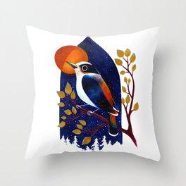 Window Bird Throw Pillow