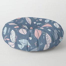 A Frolic Of Flowers And Leaves In A Perfectly Pretty Pastel Pattern Floor Pillow